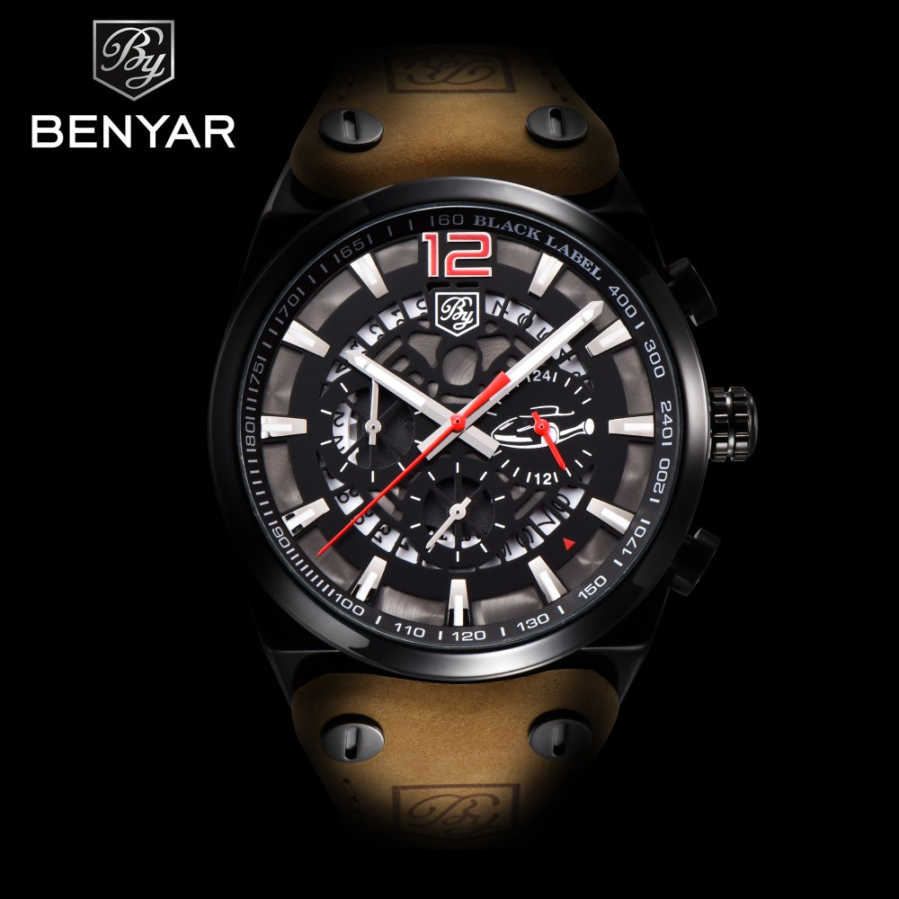 Relogio Masculino BENYAR Men Watches Military Army Brand Luxury Sports Casual Waterproof Male Quartz Man Watch Reloj Hombre 2018 luxury brand casima men watch reloj hombre military sport quartz wristwatch waterproof watches men reloj hombre relogio