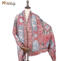 Striped Poncho Winter Pashmina Shawls And Scarves Wool Women Brown Blanket Scarf Female Cape Tassel Prices