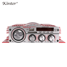 kinter MA-900 HiFi 4.0 channel mini amplifier audio 30W with USB SD MP3 input play stereo sound FM radio red aluminum enclosure все цены