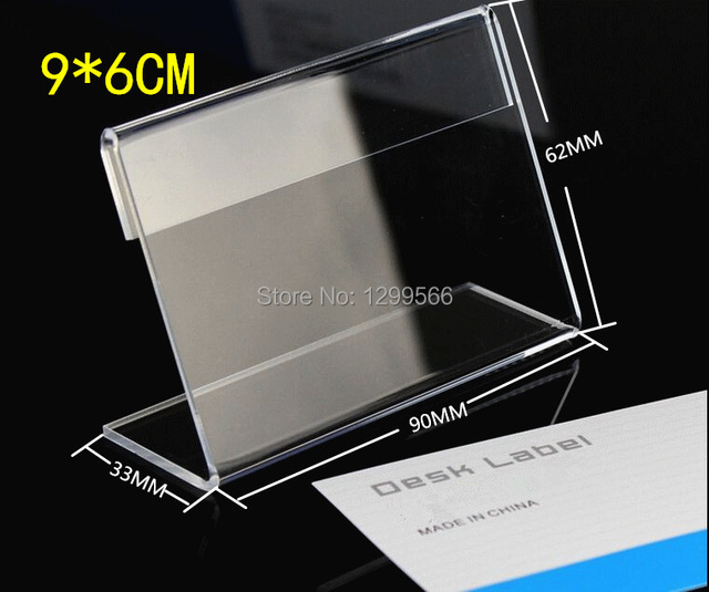 free shipping 50pcs 9 6 price tag ticket card display acrylic table