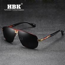 ee8f9a7df1 HBK Haute Qualité Pilote lunettes de Soleil Polarisées 2019 Hommes Conduite  Lunettes de Soleil Polaroid Classique Marque .