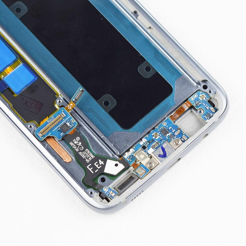 ORIGINAL 5.5 ''SUPER AMOLED LCD avec cadre pour SAMSUNG Galaxy s7 edge G935 G935F écran tactile numériseur affichage + Service Pack - 6