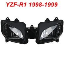 For 98-99 Yamaha YZFR1 YZF R1 YZF-R1 Motorcycle Front Headlight Head Light Lamp Headlamp Assembly CLEAR 1998 1999