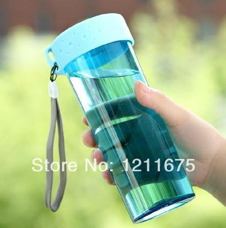 Eco friendly Portable Creative No leaking With hanger Water Bottle Glass