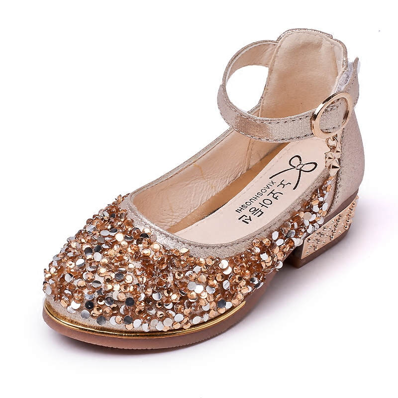 2018 New Style girls sequins performance shoes fahion rincess shoes childrens dance shoes children s footwear 17N1120