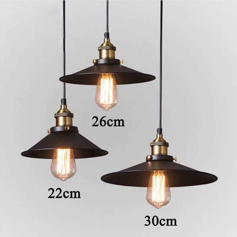 Edison Loft Style Vintage Industrial Retro Pendant Lamp Light E27 Holder Iron Restaurant Bar Counter Attic Bookstore Lamp ...