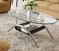Free Shipping Stainless Steel Toughened Glass Tea Table Small Tea Table