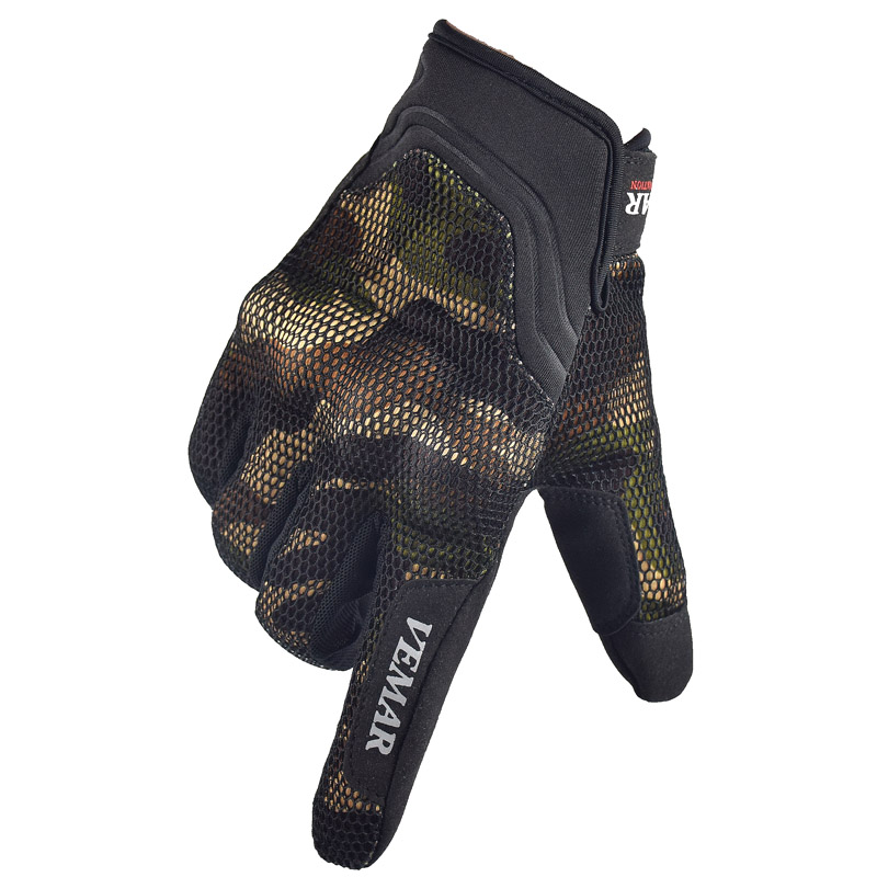VEMAR Touch Screen Gloves Mesh Motorcycle Gloves Summer Motos Luvas Guantes Motocross Protective Gear Racing Gloves Camouflage strong 0 35mmpb medical x ray protective gloves ray workplace use gloves lead rubber gloves