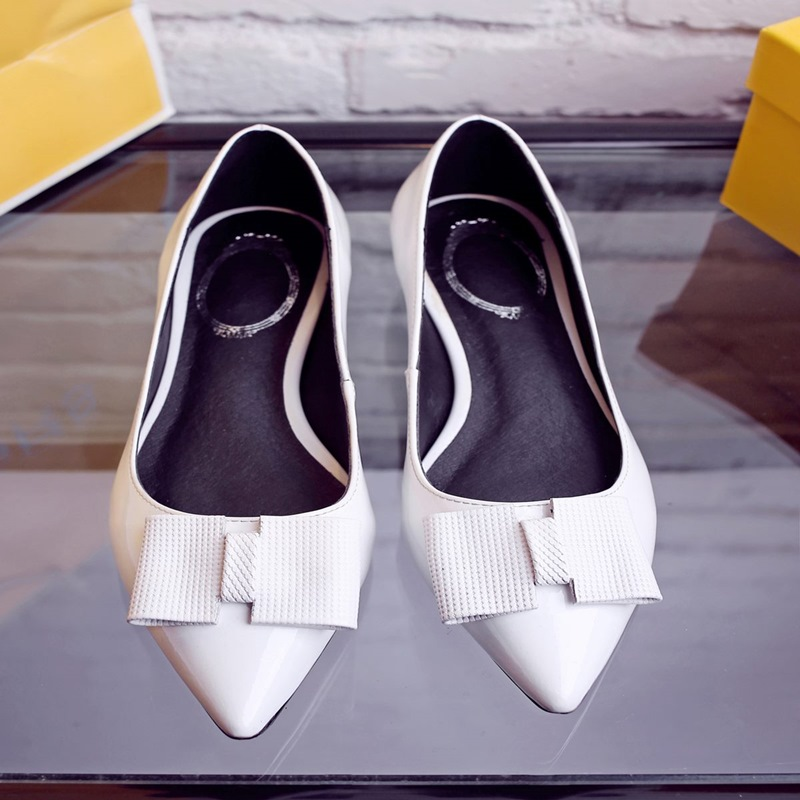 Spring Autumn Slip On Loafers Dress Ladies Rubber Shoes Women Flats Casual Pointed Toe Ballet Zapatos Mujer Valentine Flats