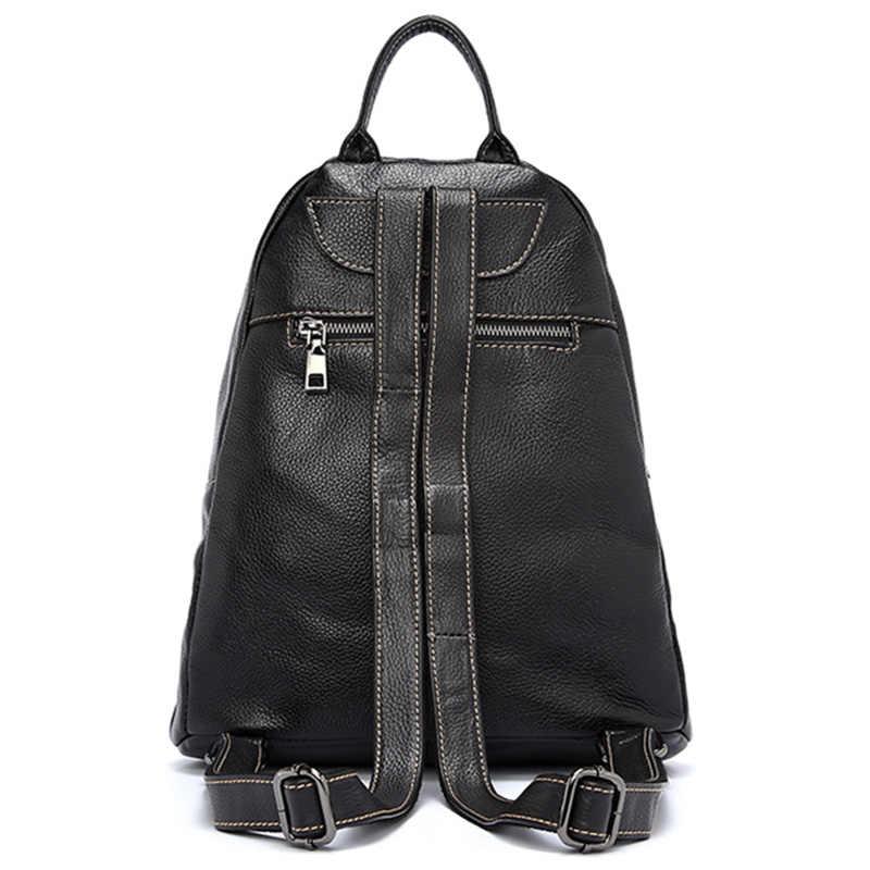 Zency 100% натуральная кожа Простые Модные женские рюкзаки праздничные женские рюкзаки женские повседневные дорожные сумки стиль преппи школьная сумка