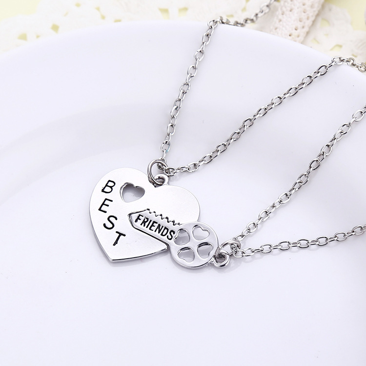 Us 599 3setlot 2015 New Arrival Best Friends Bff Pendant Necklaces Forever Best Bitches Valentine Key To My Heart Set 2pc In Pendant Necklaces