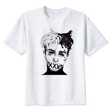 Newest Fashion Man Tshirt Xxxtentacion Summer Fashion T shirt Casual White Funny Cartoon Print T shirt