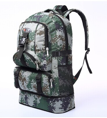 Outdoor Travel Backpack 60L Capacity Men And Women Mountaineering Bag Large Shoulders A4482