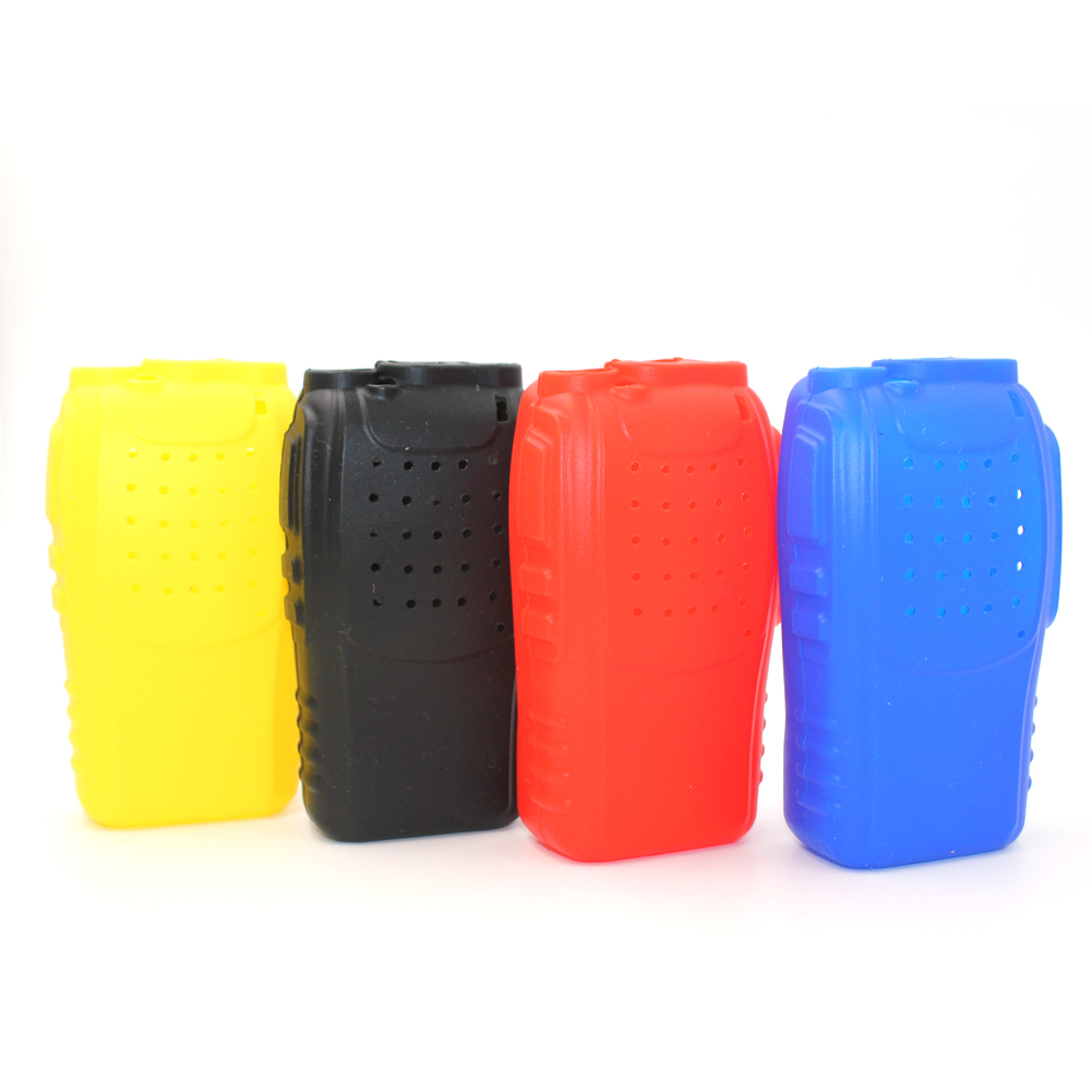 2pcs BAOFENG BF888S Handheld Soft Rubber Case Protection Silicone Cover Shell For Ham Baofeng BF-888S H777 Walkie Talkie