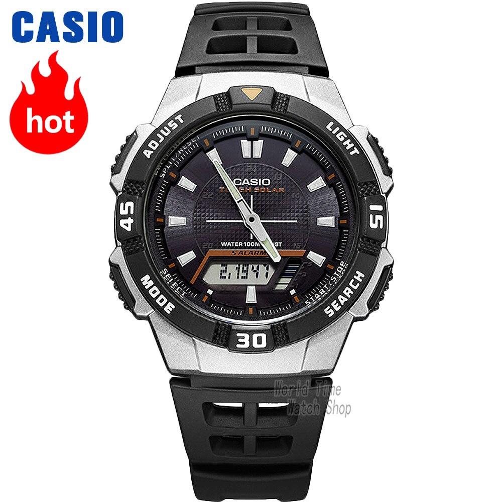 Часы Casio Analogue Мужские кварцевые спортивные часы удобные и удобные водонепроницаемые часы для студентов AQ-S800W