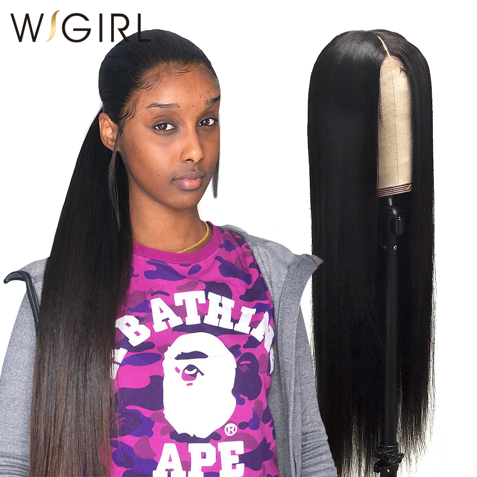 Wigirl 28 30 Inch 13x6 Lace Front Human Hair Wigs Brazilian Virgin Straight Glueless Preplucked Lace