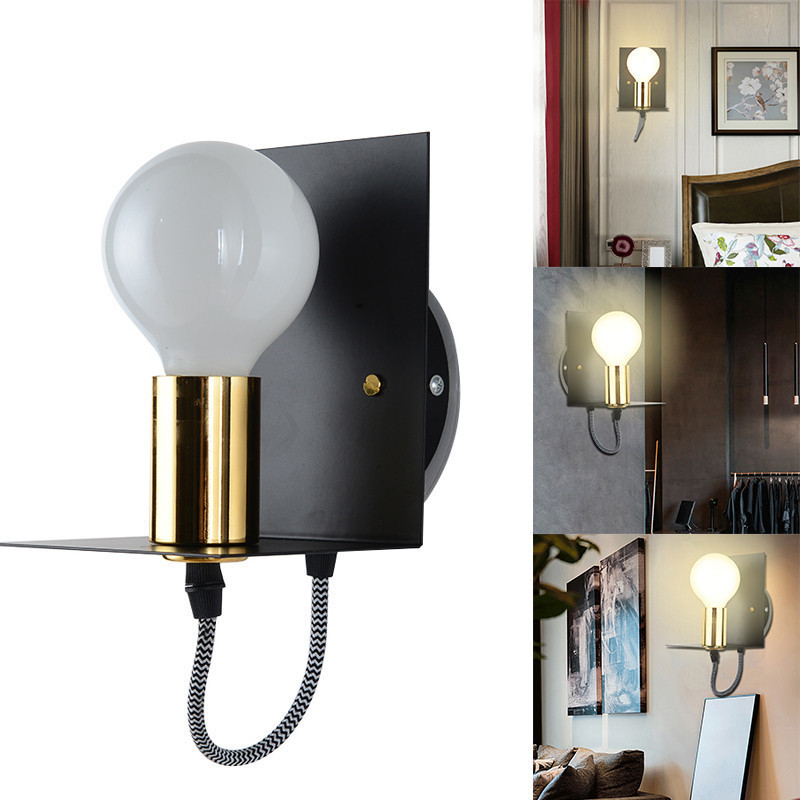 Modern Vintage Retro LED Wall Light Industrial Iron Luminaire Wall Lamp E27 LED Sconce Wall Lights For Bar Living Room Bedroom
