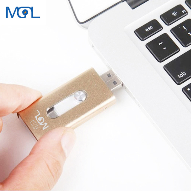 reputable site 963ab d7a08 US $28.17 |MGL Usb Flash Drive 32GB HD external storage memory stick Pen  drive For iphone 7 7 Plus 6 6s Plus 5S ipad Pendrive Disk for iOS -in USB  ...