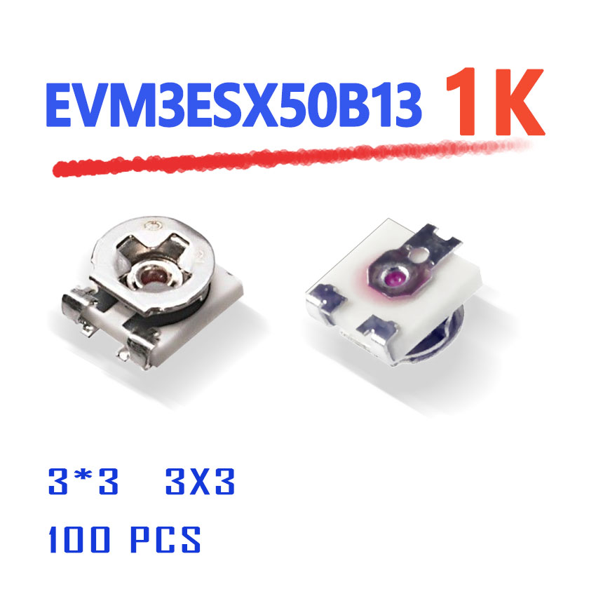 установочный комплект esx sx10wk Power Supply EVM3ESX50B13 1K 3X3 100PCS SMD evm3esx50b 3*3  3mmX3mm square high quality variable  Rheostat origina