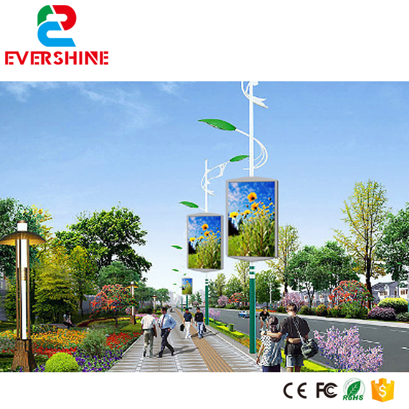 Wifi/3G waterproof 5mm P5 HD outdoor full color video LED display screen advertising machine for street light pole,highway