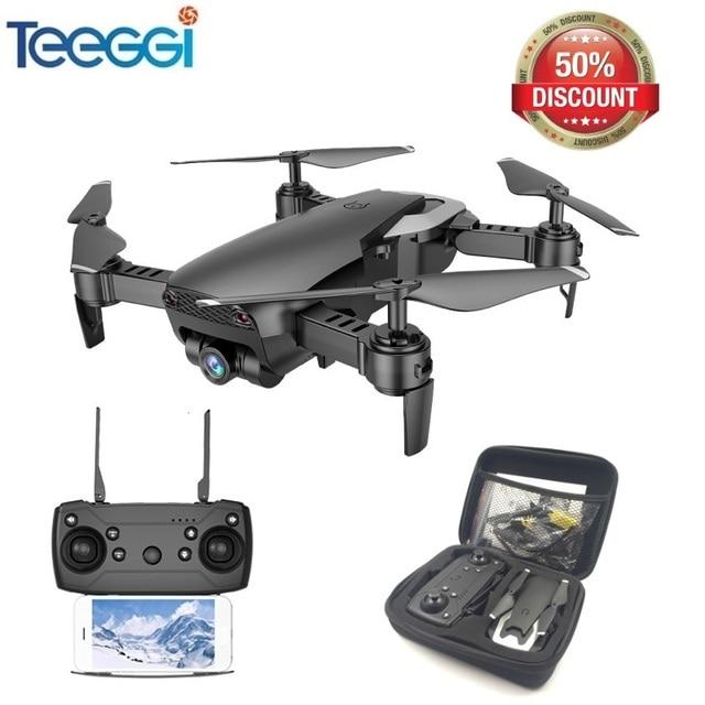 Teeggi M69 FPV Drone avec 720 p Large-angle WiFi Caméra HD Pliable RC Mini Quadcopter Hélicoptère VS VISUO XS809HW E58 X12 Dron