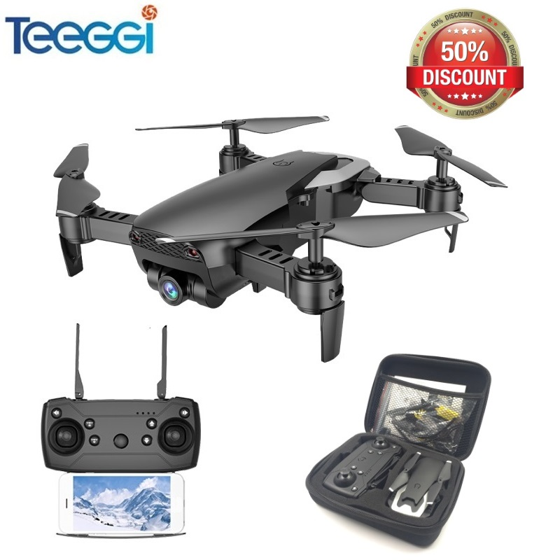 Teeggi M69 FPV font b Drone b font with 720P Wide angle WiFi Camera HD Foldable