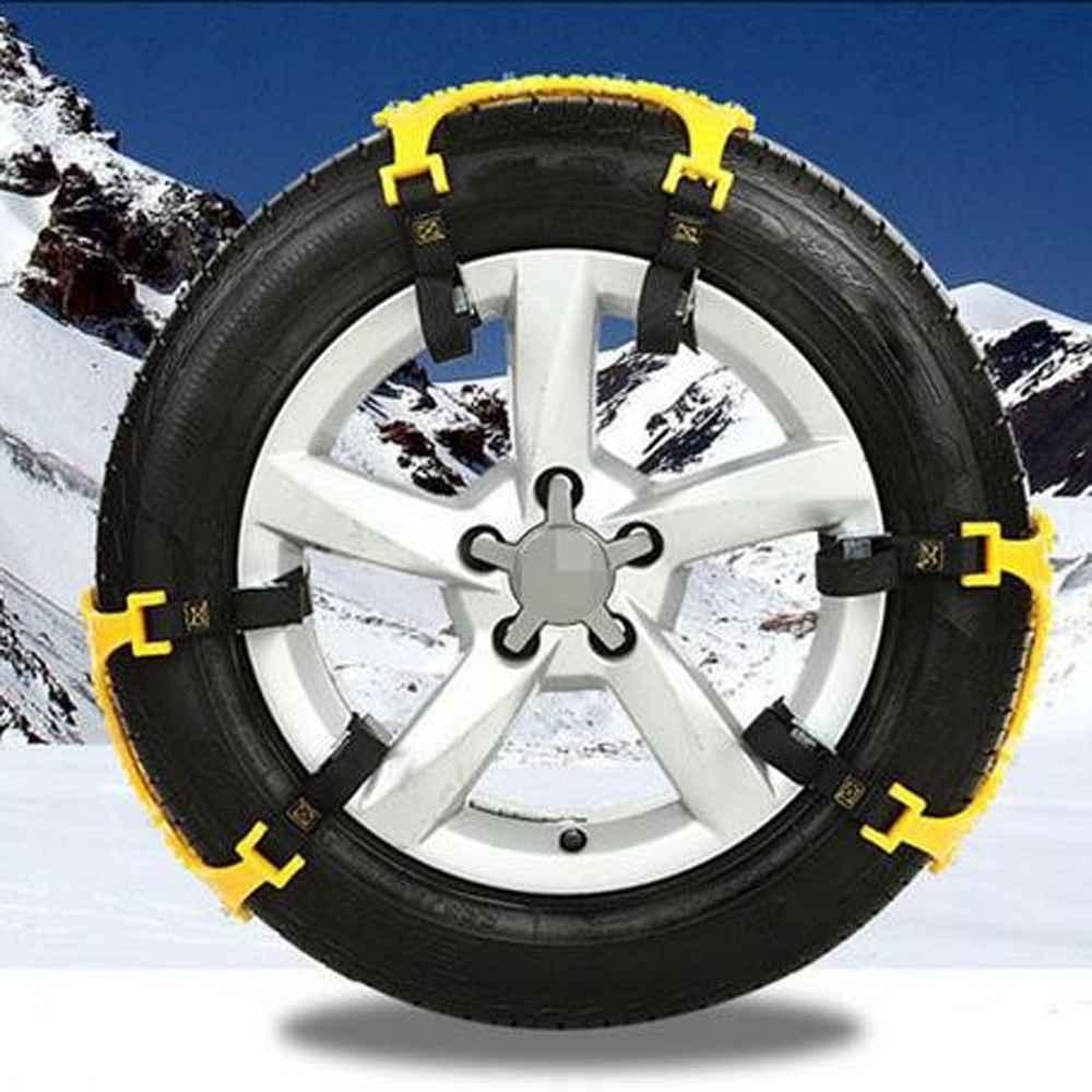где купить  6pcs/set TPU Universal Thickening Car Tire Snow Chains Adjustable Anti-skid Chains Safety chains double snap skid wheel chains  по лучшей цене