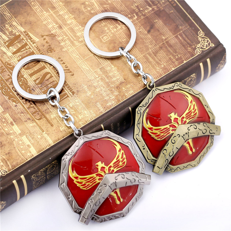 ORP Anime game peripheral product Jewelry Key Chain LOL War King Penson Shield Keychain Pendant fine accessories