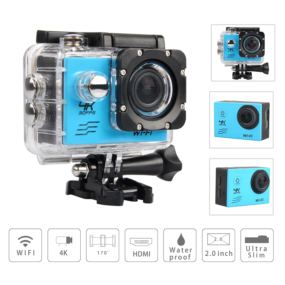 Action camera deportiva Video CAmera Ultra HD 4K WiFi 1080P 60fps 2.0 LCD 170D sport go waterproof pro camera Fotografica Cam