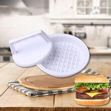B 1 Набор круглой формы, пресс для гамбургеров, пищевая пластиковая гамбургерная, мясо, говядина, гриль, бургерный пресс, Пэтти, форма для кухни, инструмент