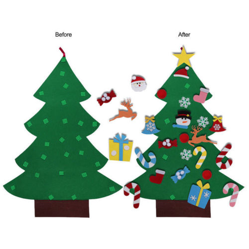 diy felt christmas tree with decorations door wall hanging kids educational gift in wall stickers from home garden on aliexpresscom alibaba group