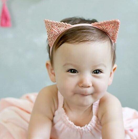 طفل اكسسوارات للشعر عصابات آذان القط عقال الدانتيل حساسة الأطفال إكسسوارات  الشعر الفرقة الطفل شعر الرأس 4dabb8ddd2f