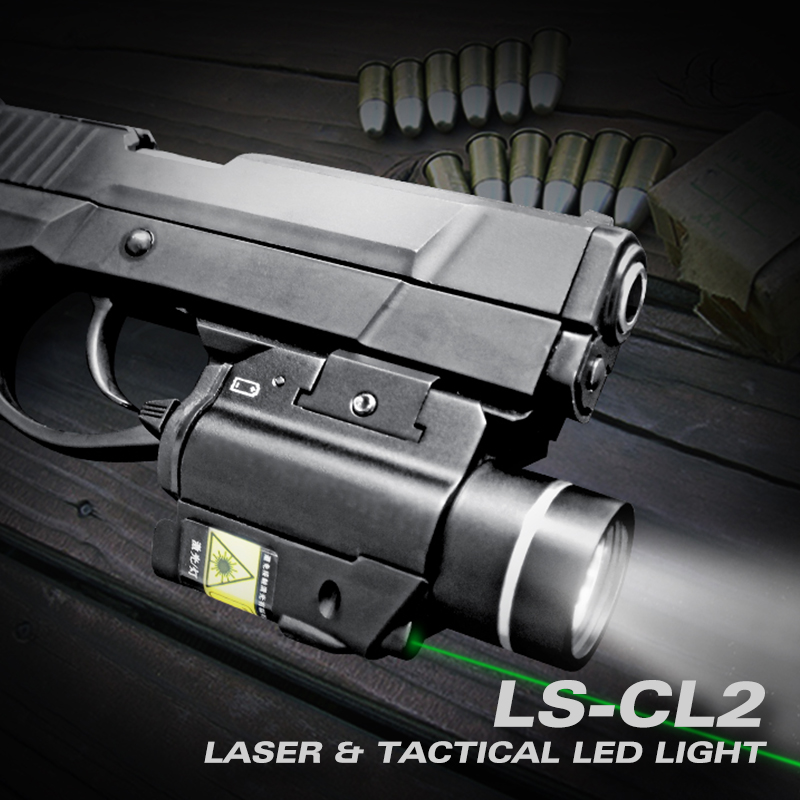 Laserspeed Tactical Gun Light 450LM with Glock 19 Laser Compact Pistol Flashlight Laser Combo