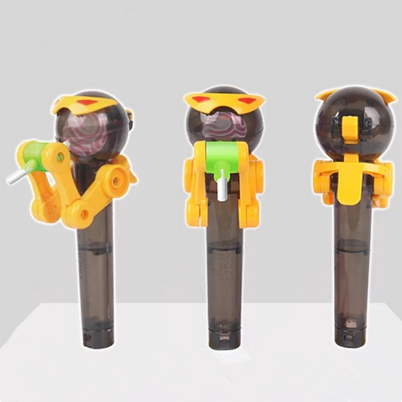 Купить с кэшбэком Creative Eating Robot CUTE Lollipops Holder Stand Lollipop Storage Robot Holder Decompression Toys candy Dustproof Kid Gift