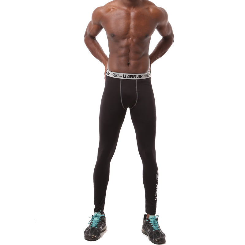 3eb6e75edd931 Black Quick drying mens pants tight fitness legging brand compression mens  joggers sweatpants Bodybuilding pants trousers-in Leggings from Men's  Clothing on ...