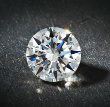 RINYIN Loose Gemstone 6.50mm 1.00ct GH Color VVS1 Clarity Excellent Cut 3EX Certificate Report Round Brilliant Moissanite