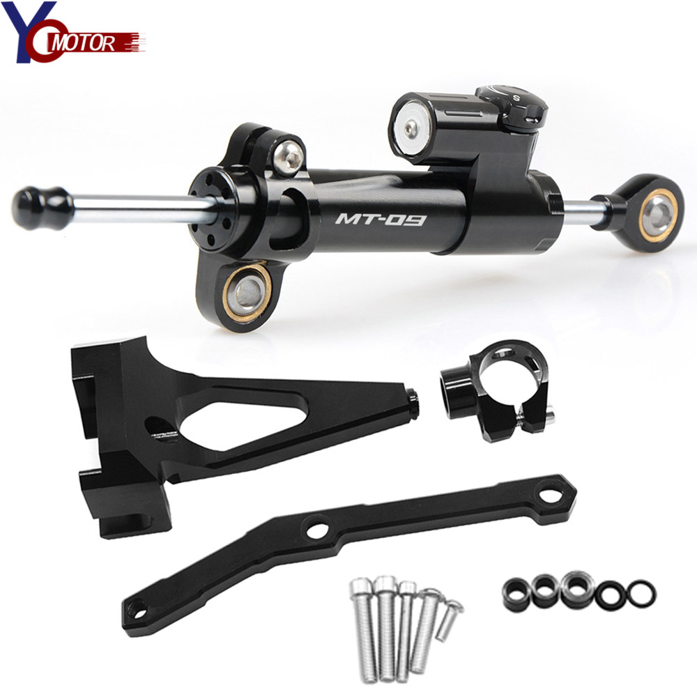 MT-09 MT09 <font><b>CNC</b></font> Motorcycle Steering Stabilize Damper Bracket Mount FOR YAMAHA MT-09 MT09 FZ09 FZ-09 2013-2016 <font><b>2017</b></font> 2015 2014 2018 image