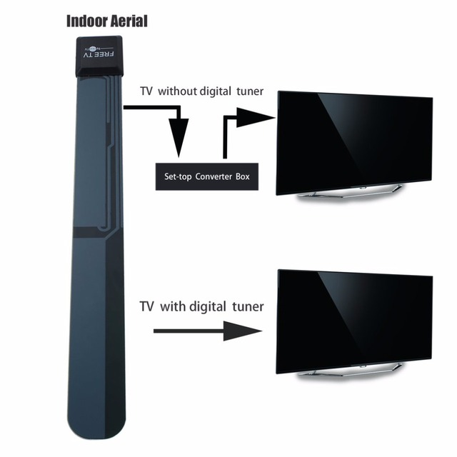 Stylish Compact Size Home TV HD TV Digital Indoor Aerial Sleek Slim on home tv transmitter, home fireplace, home tv wiring diagram, home floor construction,