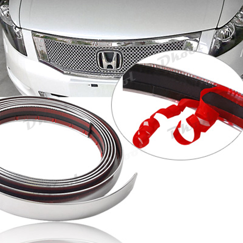 car chrome styling decoration moulding trim strip 21mm for all car grill interior exterior in. Black Bedroom Furniture Sets. Home Design Ideas