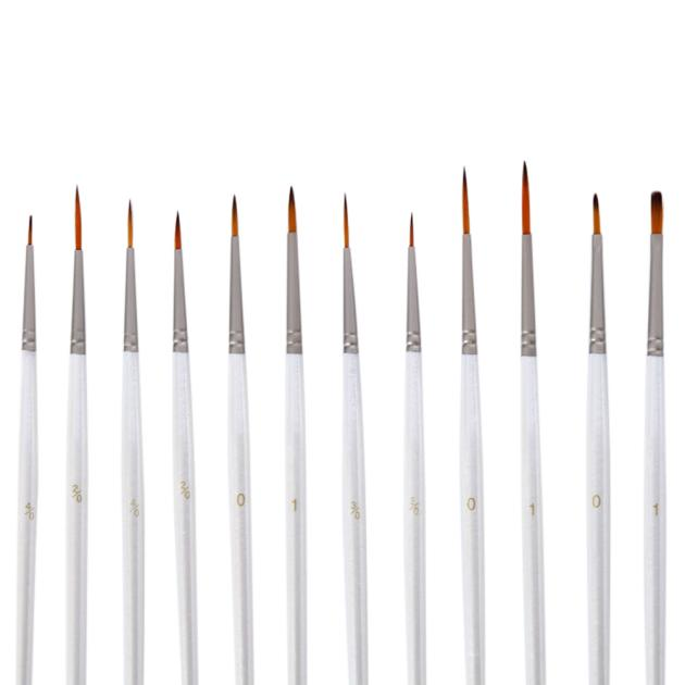 Set 12pcs Detail Paint Brush Miniature Brushes For Art Painting Paint Brush For Acrylic Watercolor Oil Painting Sets