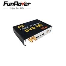 Бесплатная доставка двойная антенна Высокая Скорость Автомобиля HD DVB-T2 Мобильный автомобилей цифровое ТЕЛЕВИДЕНИЕ Тернер Приемник авто tv box dvb t2 120-150KMH россии