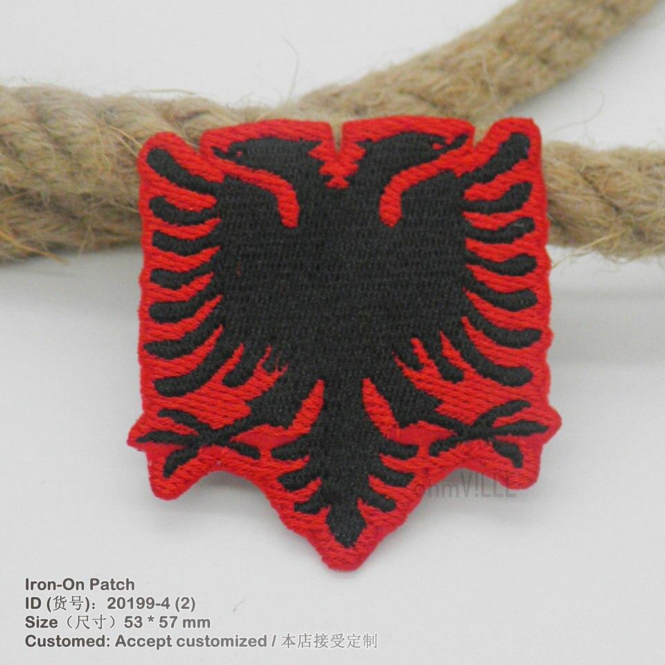 2016 Baru Albania Flag 3D Iron-On Menyengat Untuk Pakaian Buatan Tangan  bordir Appliqued Bordados Ramah Lingkungan Bordir Logo Patch 8fe2c1f83b