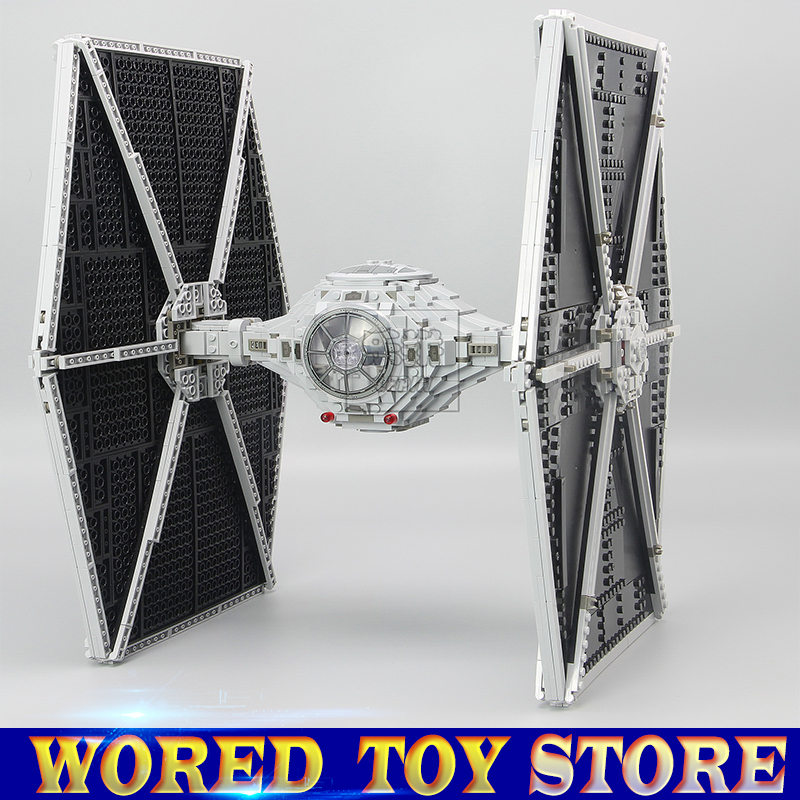 LEPIN 05036 Star Holiday toy Wars 1685pcs TIE Model Fighter Building blocks Bricks Classic Compatible legoed 75095 Toys Gift lepin 05060 star series wars ucs naboo star type fighter aircraft model building blocks bricks compatible legoed 10026 toy gifts