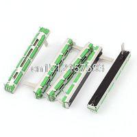 5Pcs Fader Mixer Slide Potentiometer 10K Ohm Linear Pot 60mm Travel Metal Body