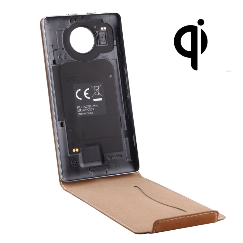 For microsoft lumia 950 xl flip case QI Wireless Standard Charging Back Cover For Nokia Lumia 950 cover flip cover Holster Coque