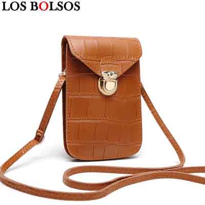 0d72568fc7608c Hanging Neck Purse for Women Pouch Mini Crossbody Bags PU Leather Coin  Purses Phone Bag -in Coin Purses from Luggage & Bags on Aliexpress.com |  Alibaba ...