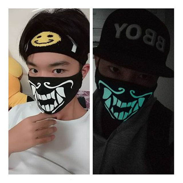 Game LOL K/DA KDA Akali The Rogue Assassin S8 Cosplay Props Boys Girls Teens Night Lights Mask Face Cotton Mask Accessories 4
