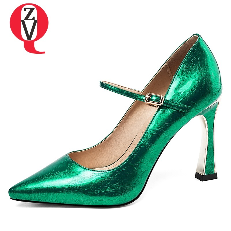 Fuera Black Moda Cuero Finos Bombas 2019 Super Más Sexy Las Mujeres Alta Tacones Hadmade green Plataforma Patente Zapatos Zvq Mujer De Primavera w0vfqf6R