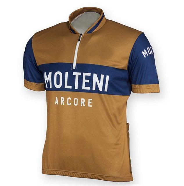 Men's retro Molteni cycling jersey summer pro team cycling clothing bicycle wear roupas ciclismo maillot Tops