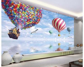 Custom photo wallpaper 3d wall murals wallpaper 3d TV setting wall Cartoon mediterranean balloon mural wall papers home decor